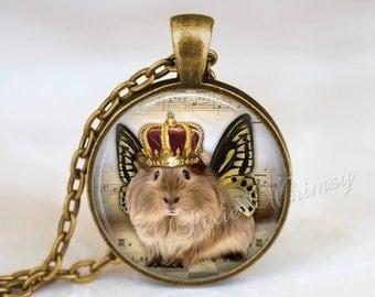 GUINEA PIG Necklace, Guinea Pig Jewelry, Guinea Pig Pendant, Guinea Pig Charm, Glass Photo Art Necklace, Cavy, Guinea Pig Keychain, Pig