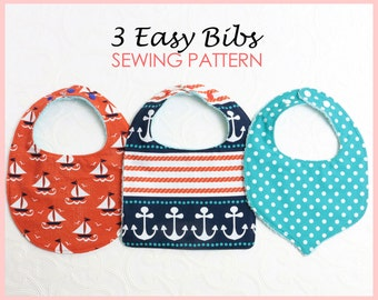 Baby Bib Pattern, Bib Patterns, Baby sewing pattern, Bib Pattern, Bib Patterns, Baby Bib Patterns, PDF Sewing Pattern, BASIC BIBS pattern