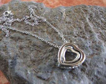 Double Heart Crystal Locket