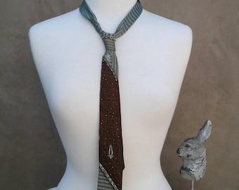Hand Beaded Vintage Tie