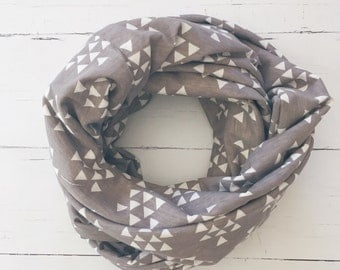 Gray Infinity Scarf/Loop Scarf/Gift for Her
