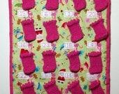 Fabric advent calendar, children's advent calendar, reusable advent calendar