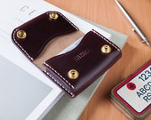 Horween Chromexcel No8 Leather Credit Card Case Ox Blood Burgundy