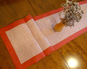 Country style long table runner 153cm x 35 cm, made from vintage materials