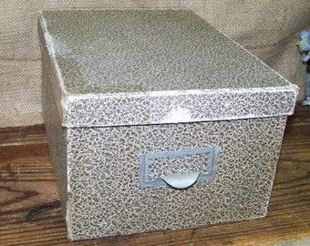 Cardboard File Box Vintage File Box Storage Box