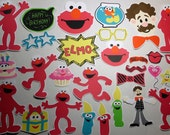 30 Pc. Elmo, Sesame Street Photo Booth Props and/or Centerpieces