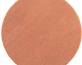"3) 2 inch Round COPPER Blanks, 24g COPPER Circle Blanks - 2"" copper blanks, 50mm Round Blanks - Copper stamping blanks"