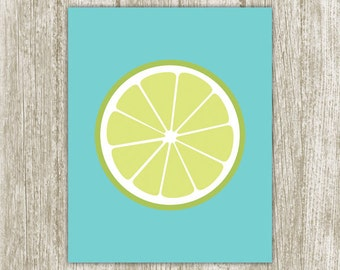 Lime Printable, Kitchen Printable, Lime Print, Citrus Kitchen Print, Fruit Kitchen Decor, Lime Wall Art 5x7 8x10 11x14 Instant Download