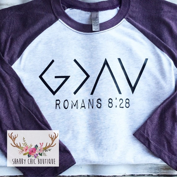 Christian Shirt Baseball Tee God Is By Shabbychicboutiques