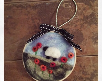Needle felted art.