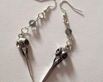 Bird Skull Earrings