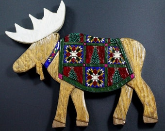 Moose Wall Hanging with Quilt