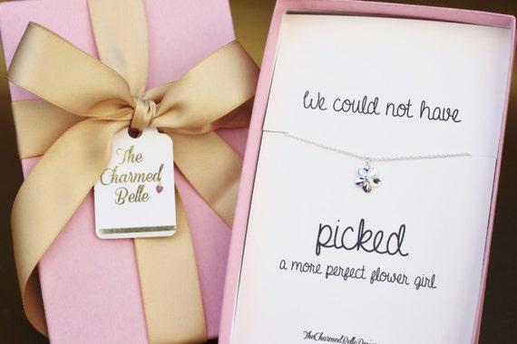 Flower Girl Gift Baskets : Flower girl gift necklace bridal party