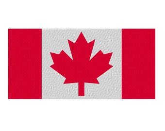 Canada Flag Embroidery Design