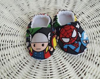 Kawaii Marvel Crib Shoes, Baby Shoes, Baby Moccs, Baby Shoes, Soft Sole Shoes, Baby Slippers, Baby Moccasins, Baby Gift,