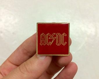 vintage 1980s NOS ACDC enamel lapel pin