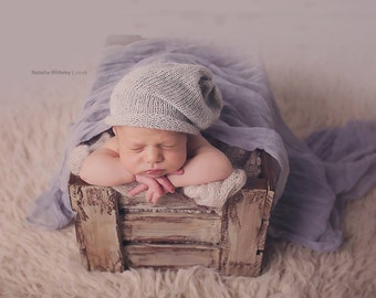 Newborn slouch hat knit alpaca newborn photo prop