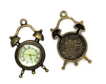 6 pcs of metal clock 20mm-antique bronze-1134
