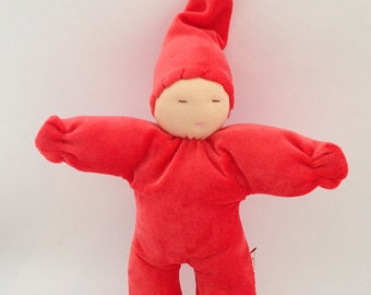Waldorf doll red Papoumpapoum small elf