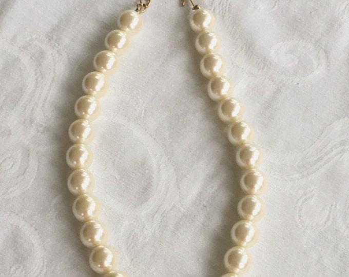 """Vintage Baroque Pearl Necklace 16"""" Adjustable Wedding Bride"""