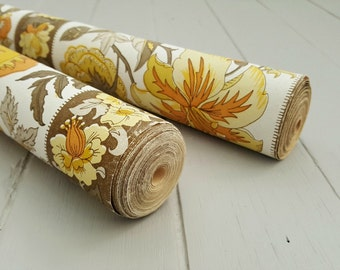 2 rolls Vintage Wallpaper Yellow Floral