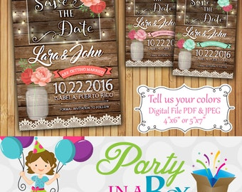 Save the Date Printable Digital File