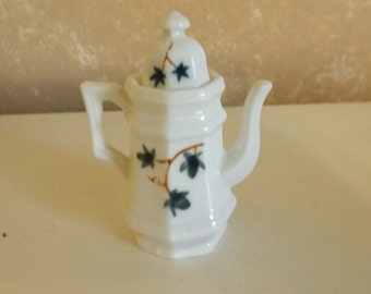 "Vintage Small White China Ceramic Pitcher with Top  2 3/4"" CL30-30"