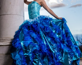 Water themed Ballgown