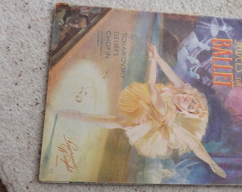 Vintage ballet magazine, jewels of the ballet, sheet music, Chopin, Delibes, Tchaikovsky