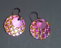 Colorful Niobium disk Earrings - Light weight, hypo-allergenic, perfect for sports or daily wear