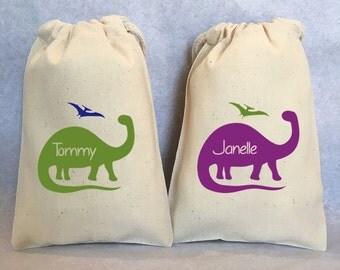 "18 Dinosaur party, Dinosaur, Dinosaur favor, Dino birthday, Dinosaur Birthday, Dino Party, Brontosaurus, Dinosaur party favor bags, 5""x8"""