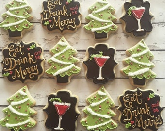 Eat, Drink, and Be Merry Cookie Set
