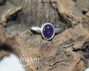 Sterling silver Amethyst ring size US 5.5 UK size K