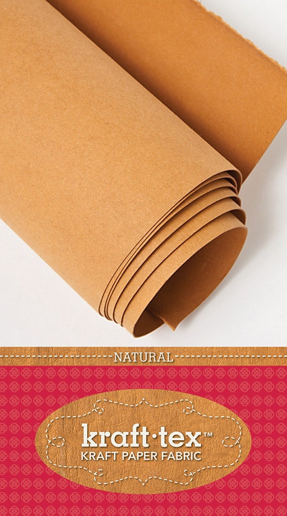 Kraft tex 19 x 54 roll kraft paper fabric natural from for Kraft paper craft tubes