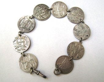 antique victorian love token bracelet