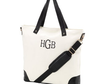 Black and White Sullivan Shoulder Bag