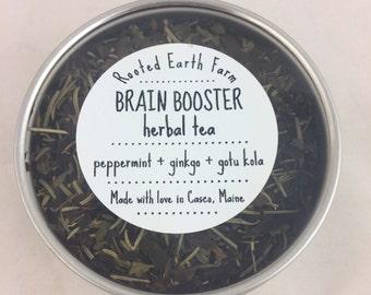 Brain Booster Herbal Tea - Memory Tea - Concentration Tea - Study Help - Study Tea - Increase Memory - Memory Loss - Brain Tea - Organic Tea