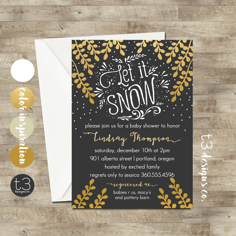 winter wonderland invitation winter baby shower invitation winter