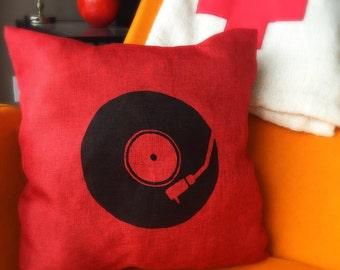 Retro Turntable Pillow Case