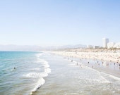 Pacific Coast Highway, Santa Monica Beach Photography, Los Angeles Photograph,  California Wall Decor, Bohemian Style Art,  California