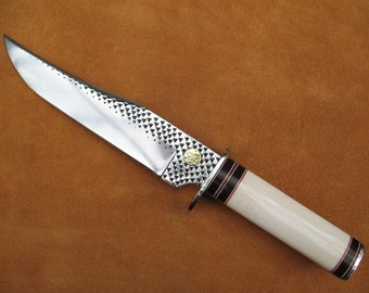 Custom Bone and Cocobolo Bowie Knife 2