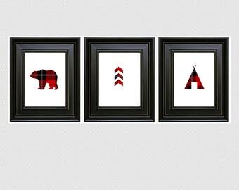 DIY Buffalo Print Trio