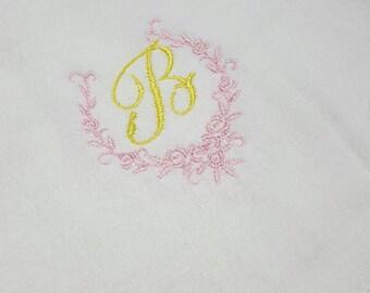 Monogrammed Cloth Diaper Burp Cloth