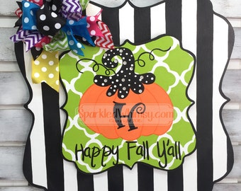 SWITCHABLE SPARKLE: Fall Pumpkin with Bling Sign