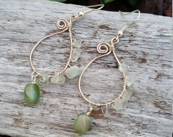 Sweet Pea Paisley Earrings