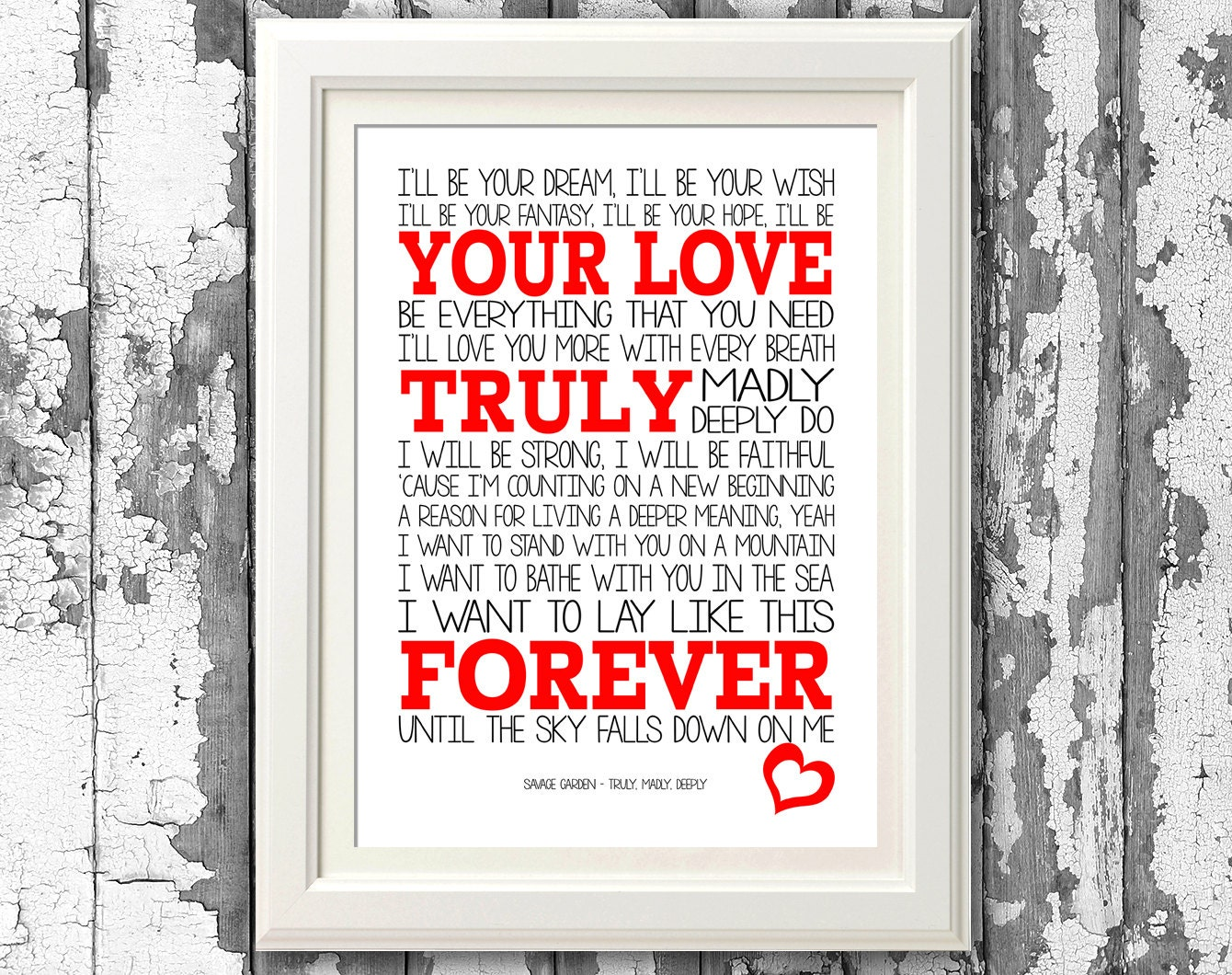Savage Garden Truly Madly Deeply 8x10 Picture Mount Print