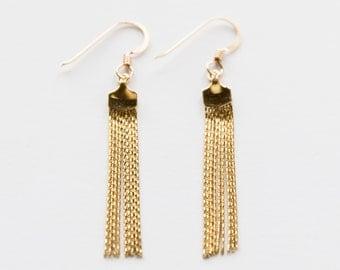Gold Filled Tassel Earrings