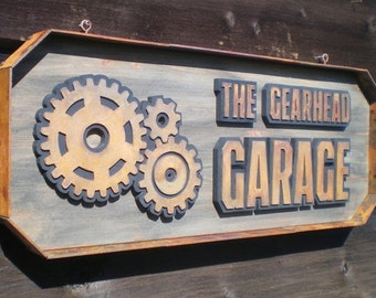 The Gearhead Garage Sign