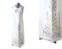 Boho Wedding Dress Hippie Wedding Dress Bohemian 1960s Wedding Dress Large Wedding Gown White Embroidered Dress Womens Clothing Vintage