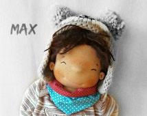 Waldorf doll, steiner doll, soft boy doll, fabric doll, cloth doll for boys, handmade doll, waldorf toy, OOAK doll